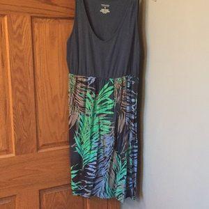 Tropical print tank dress
